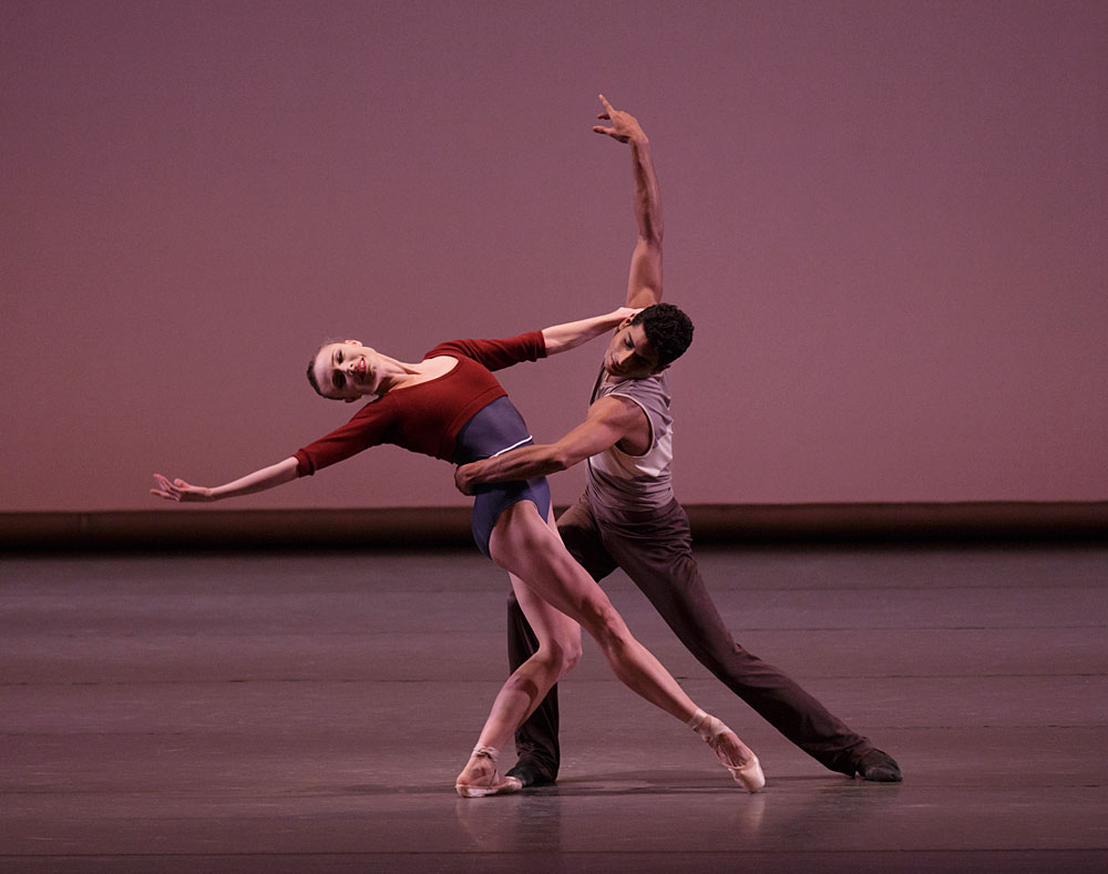 Sara Mearns and Amar Ramasar in Justin Peck's <I>'Rode,o: Four Dance Episodes</I>.<br />© Paul Kolnik. (Click image for larger version)