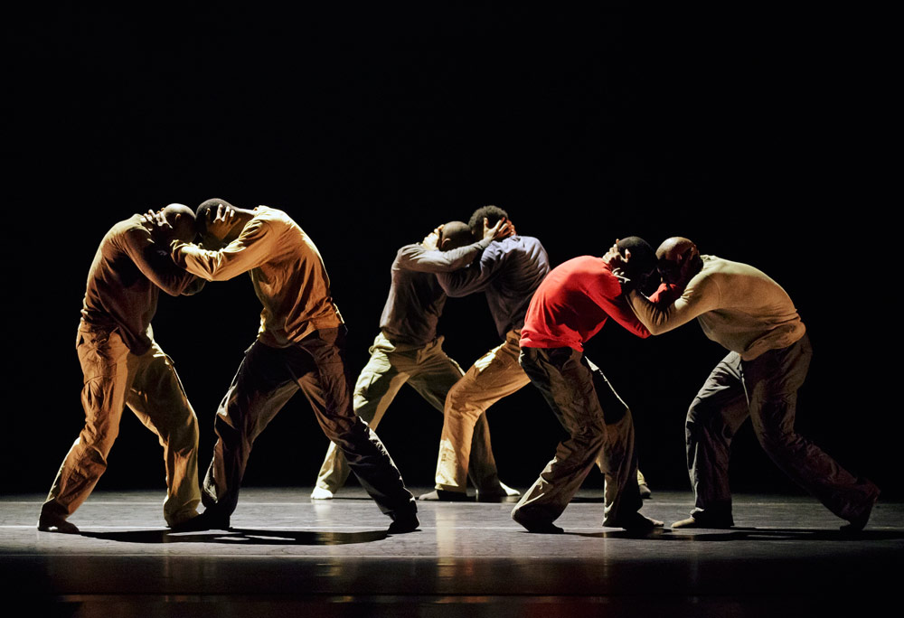 Alvin Ailey American Dance Theater in Hofesh Shechter's <I>Uprising</I>.<br />© Paul Kolnik. (Click image for larger version)