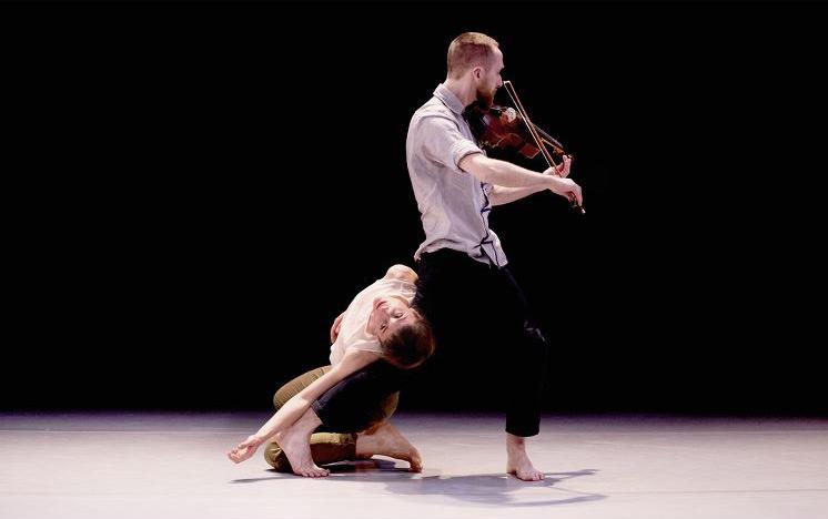 Elisa Vassena and Benjamin Hooper in Cornelia Voglmayr's <I>Sonata in Three Movements</I>.<br />© Camilla Greenwell. (Click image for larger version)