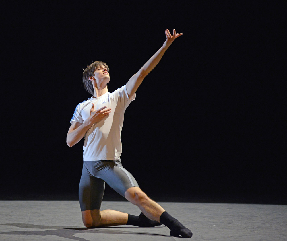 Xander Parish rehearsing Eric Gauthier's <I>Ballet 101</I>.<br />© Dave Morgan. (Click image for larger version)