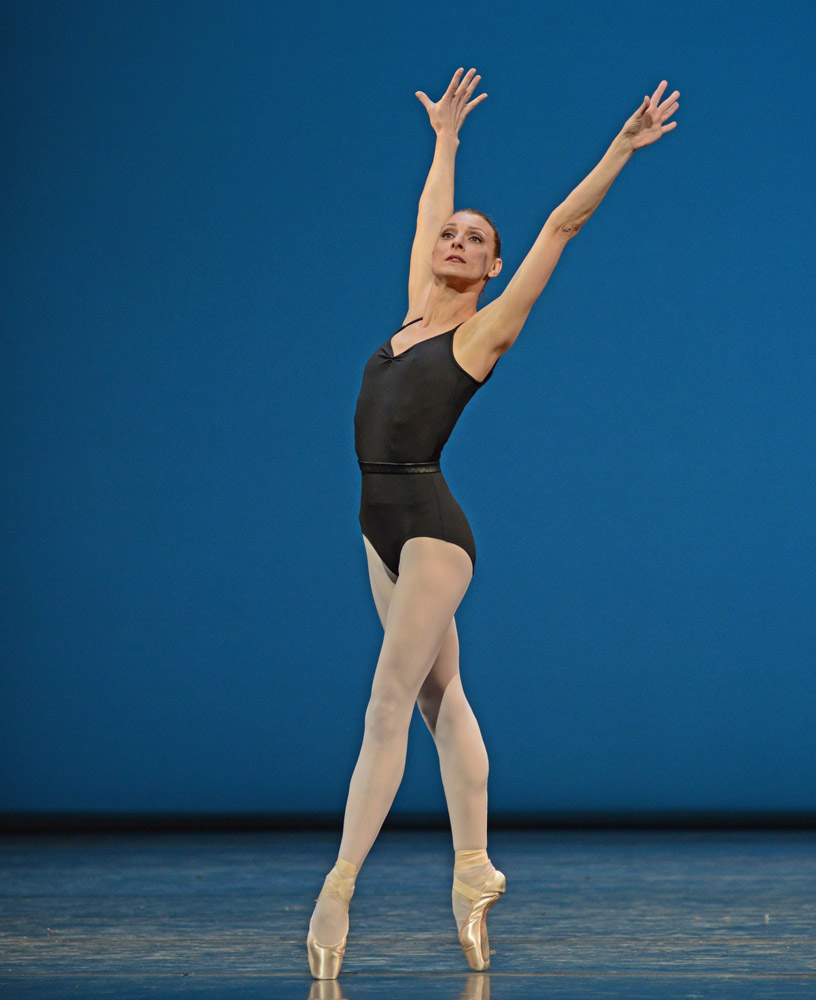 Zenaida Yanowsky in The Four Temperaments.© Dave Morgan, courtesy the Royal Opera House. (Click image for larger version)
