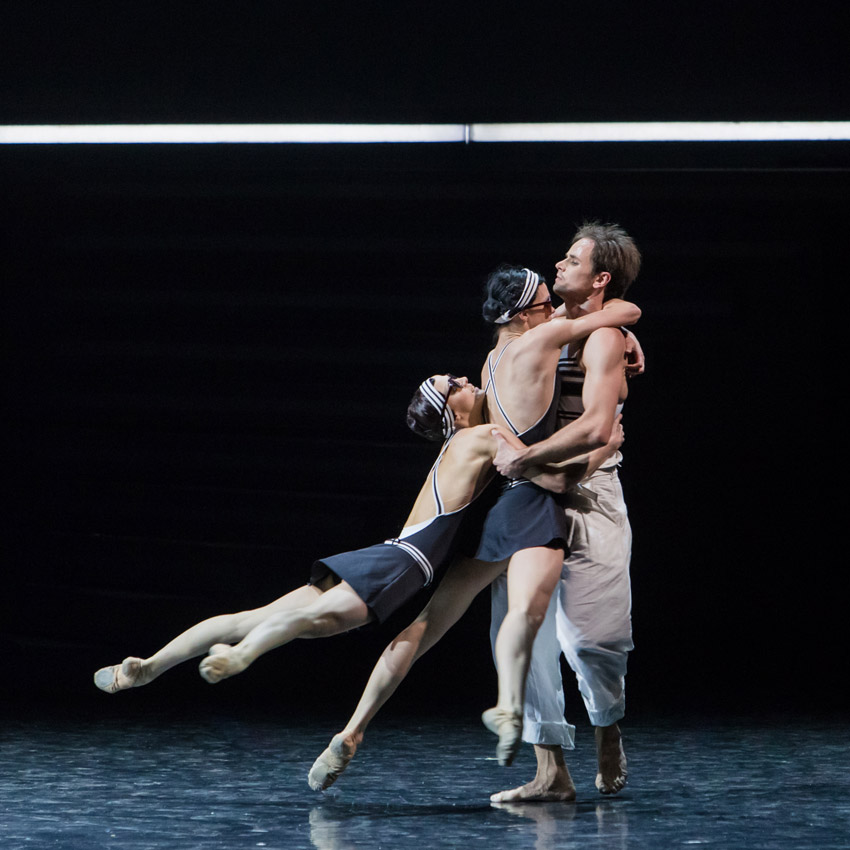 Eifman Ballet in <I>Up & Down</I>.<br />© Evgeny Matveev. (Click image for larger version)