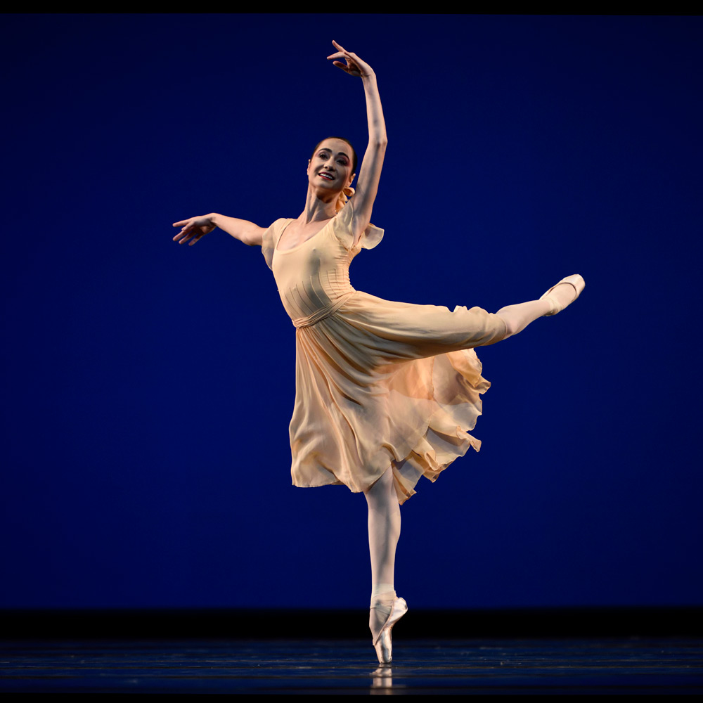 Mathilde Froustey In Robbins' <I>Dances at a Gathering</I>.<br />© Erik Tomasson. (Click image for larger version)