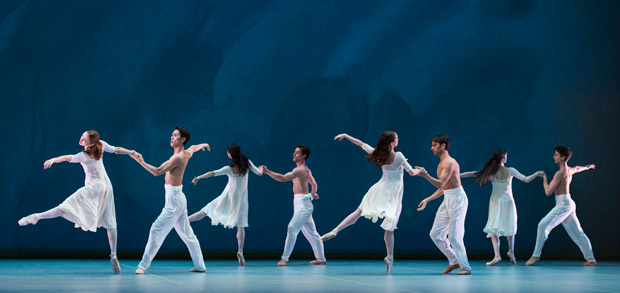 English National Ballet in John Neumeier's Spring and Fall.© Foteini Christofilopoulou. (Click image for larger version)