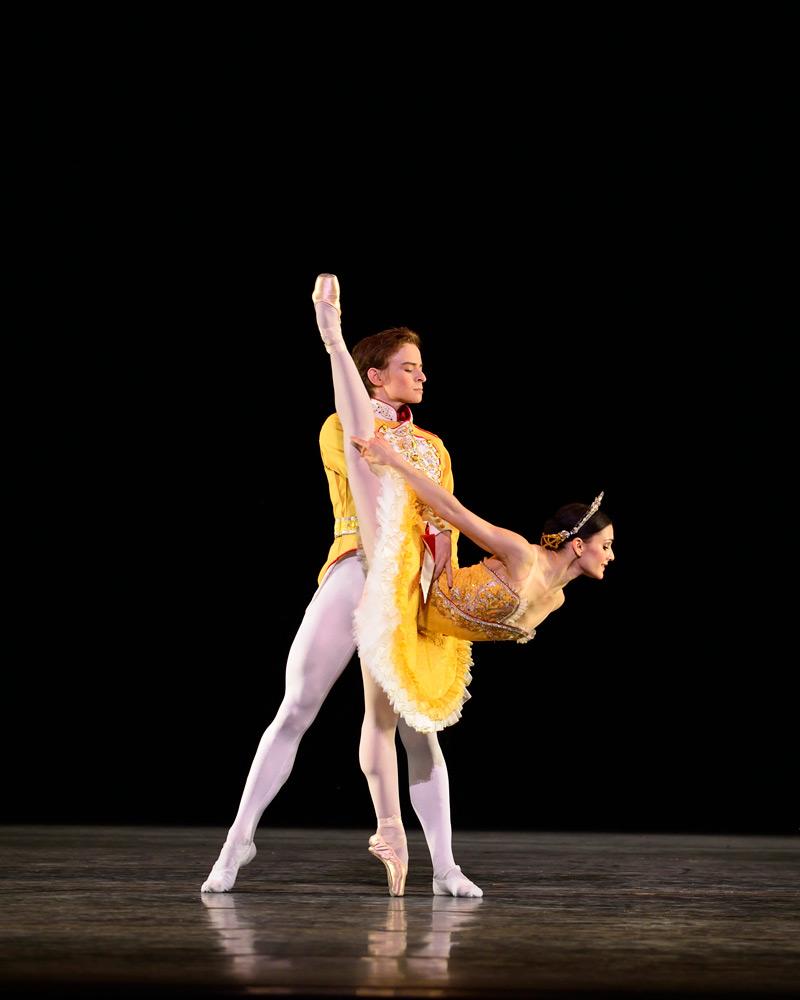 Daniil Simkin and Sarah Lane in Theme and Variations.© Gene Schiavone. (Click image for larger version)