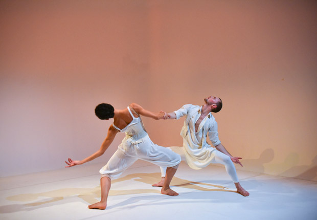 Cree Barnett Williams and David Ledger in Hubert Essakow's <I>Adieu</I>.<br />© Hugo Glendinning. (Click image for larger version)
