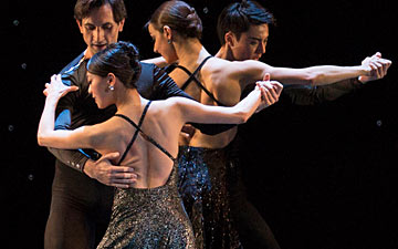Boston Ballet in Hans van Manen's Black Cake.© Rosalie O'Connor. (Click image for larger version)