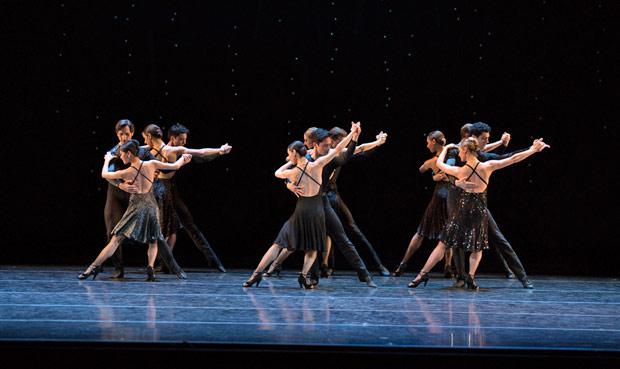 Boston Ballet in Hans van Manen's <I>Black Cake</I>.<br />© Rosalie O'Connor. (Click image for larger version)