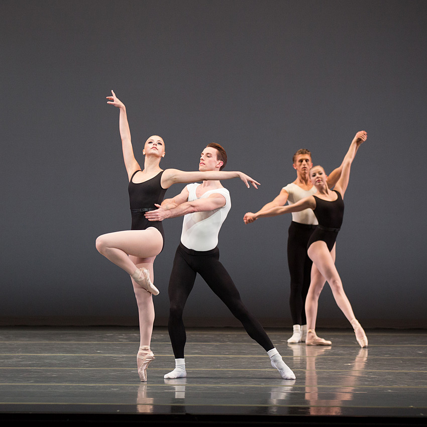 Boston Ballet in George Balanchine's Episodes.© Rosalie O'Connor. (Click image for larger version)