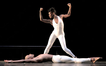 Rachael McLaren and Yannick Lebrun in Bad Blood.© Steve Wilson. (Click image for larger version)