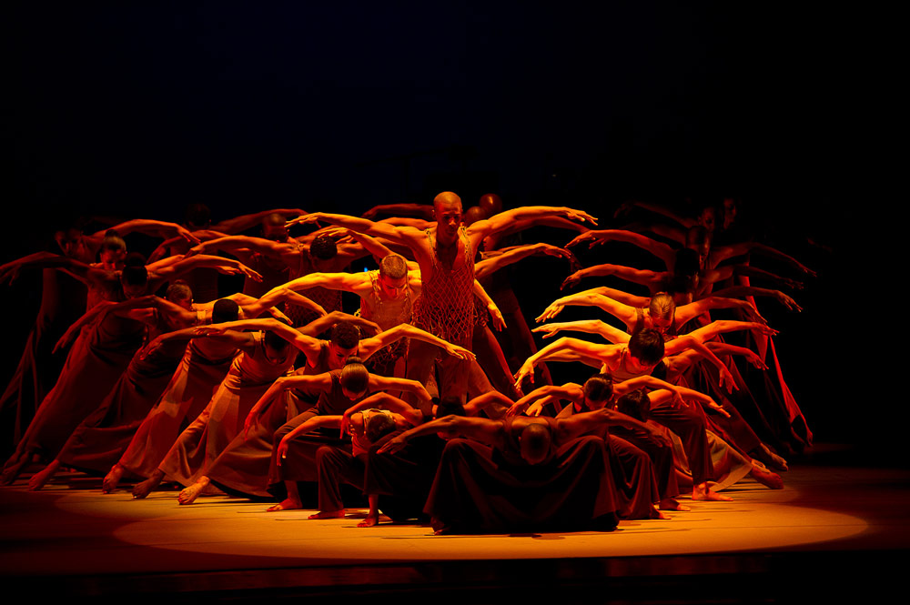 Alvin Ailey American Dance Theater in Revelations.© Christopher Duggan. (Click image for larger version)