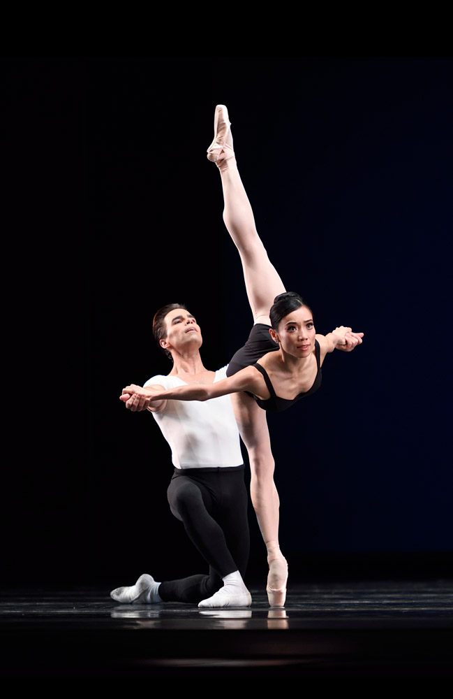 Frances Chung and Joan Boada in Balanchine's The Four Temperaments.© Erik Tomasson. (Click image for larger version)