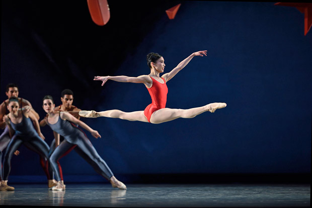 Frances Chung in Ratmansky's <I>Piano Concerto #1</I> from <I>Shostakovich Trilogy</I>.<br />© Erik Tomasson. (Click image for larger version)
