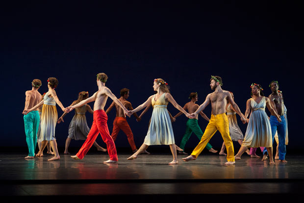 Mark Morris Dance Group in <I>Spring, Spring, Spring</I>.<br />© Ken Friedman. (Click image for larger version)