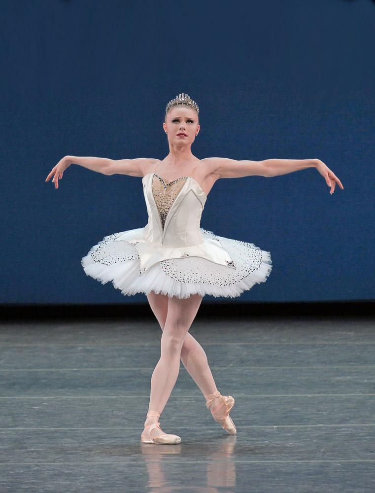 Sara Mearns in George Balanchine's <I>Symphony in C</I>.<br />© Paul Kolnik. (Click image for larger version)