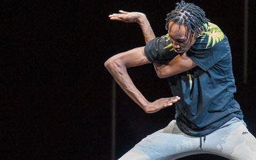 Brixx (Sean Douglas) in FLEXN at Park Avenue Armory.© Stephanie Berger. (Click image for larger version)