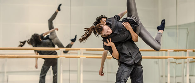 Miguel Altunaga and Itziar Mendizabal in rehearsal of Altunaga's <I>And it's you</I>.<br />© Stephen Wright. (Click image for larger version)