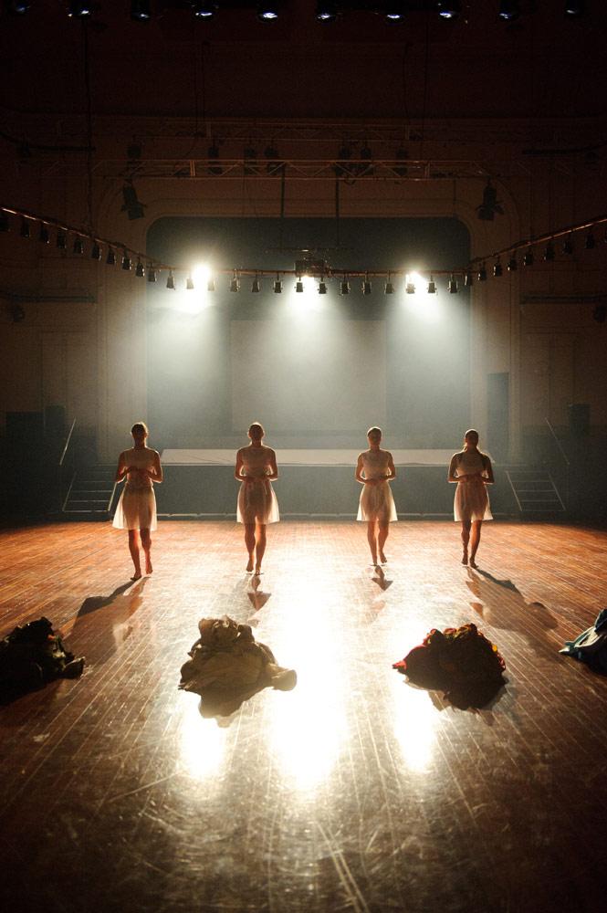 Sarah Aiken, Rebecca Jensen, Janine Proost and Rachel Coulson in <i>Overworld</i>.<br />© Sarah Walker. (Click image for larger version)