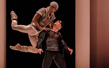 George Oliveira (Mercutio) and Alvaro Prieto (Tybalt) in Romeo and Juliet.© Stephen Wright. (Click image for larger version)