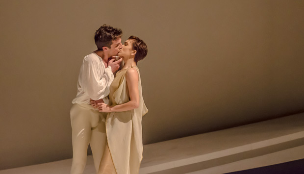 Noélani Pantastico and Lucien Postlewaite in <I>Romeo and Juliet</I>.<br />© Stephen Wright. (Click image for larger version)