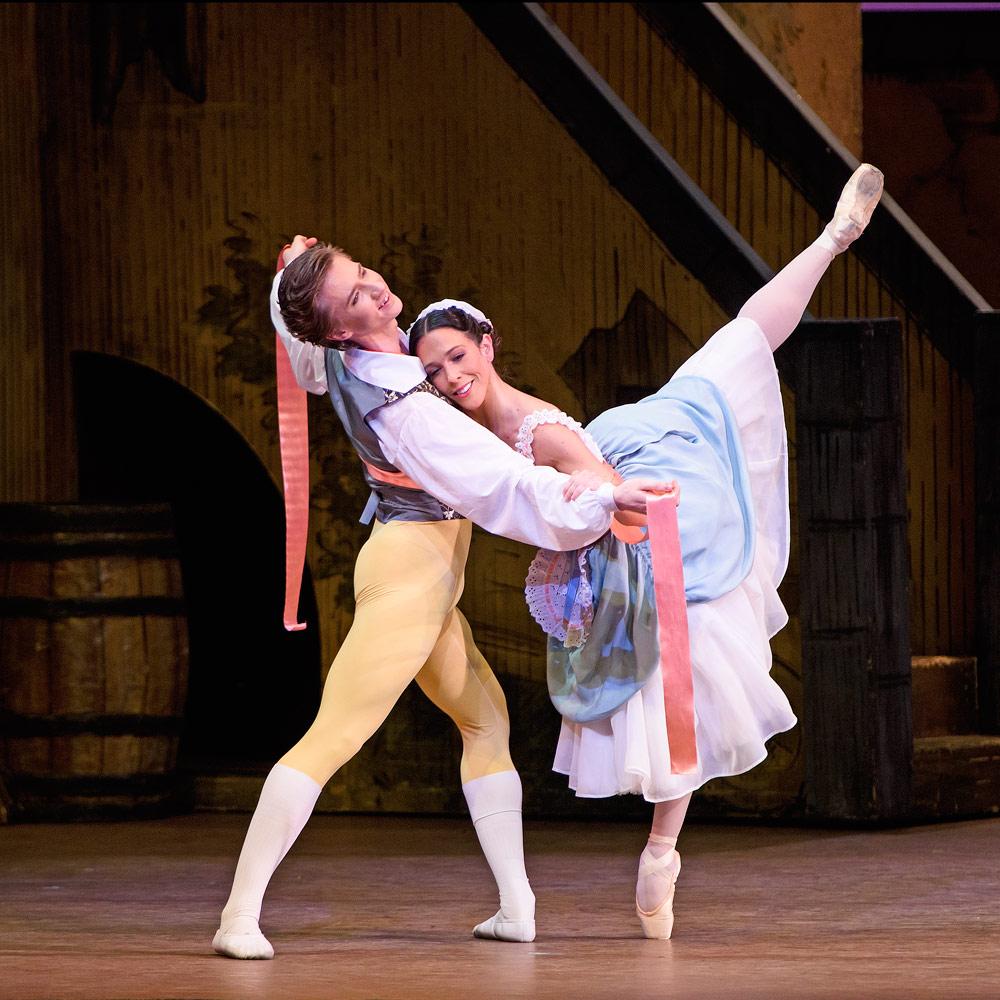 Vadim Muntagirov and Laura Morera in La Fille mal gardée.© ROH, Tristram Kenton (Click image for larger version)