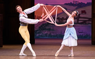Vadim Muntagirov and Laura Morera in La Fille mal gardée.© ROH, Tristram Kenton (Click image for larger version)