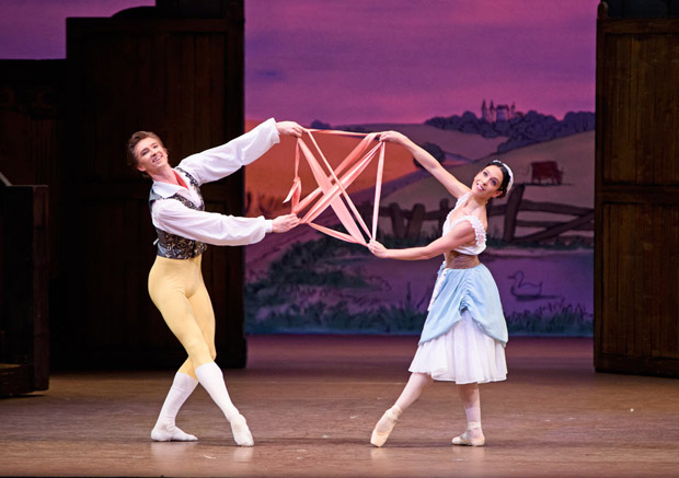 Vadim Muntagirov and Laura Morera in <I>La Fille mal gardée</I>.<br />© ROH, Tristram Kenton (Click image for larger version)
