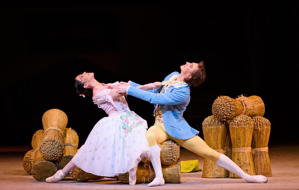 Laura Morera and Vadim Muntagirov in La Fille mal gardée.© ROH, Tristram Kenton (Click image for larger version)