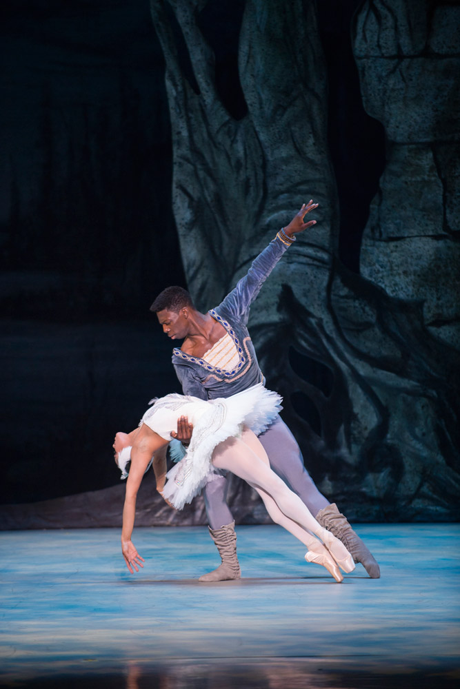 Misty Copeland and Brooklyn Mack in Swan Lake.© Theo Kossenas. (Click image for larger version)