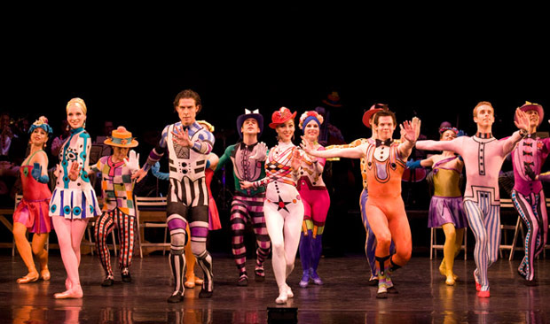Birmingham Royal Ballet in MacMillan's <I>Elite Syncopations</I>.<br />© Bill Cooper. (Click image for larger version)