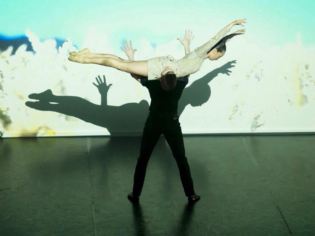 Encore Dance Company in Antony Dowson's <I>De Part Ed</I>.<br />© Brian O'Carroll. (Click image for larger version)