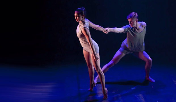 Encore Dance Company in James Streeter's <I>Untouchable Void</I>.<br />© Brian O'Carroll. (Click image for larger version)