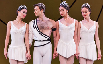 Ako Kondo, Cristiano Martino, Robyn Hendricks and Amber Scott in Symphonic Variations.© Daniel Boud. (Click image for larger version)