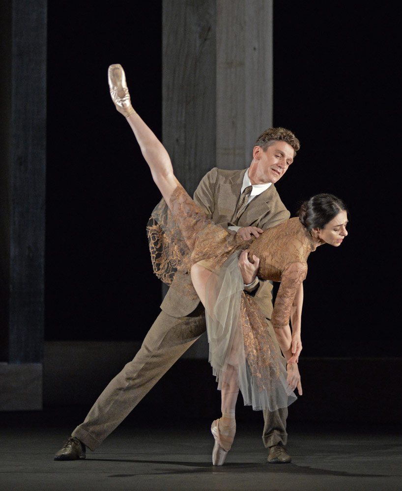 Alessandra Ferri and Gary Avis in the I Now, I Then section of Woolf Works.© Dave Morgan, courtesy the Royal Opera House. (Click image for larger version)