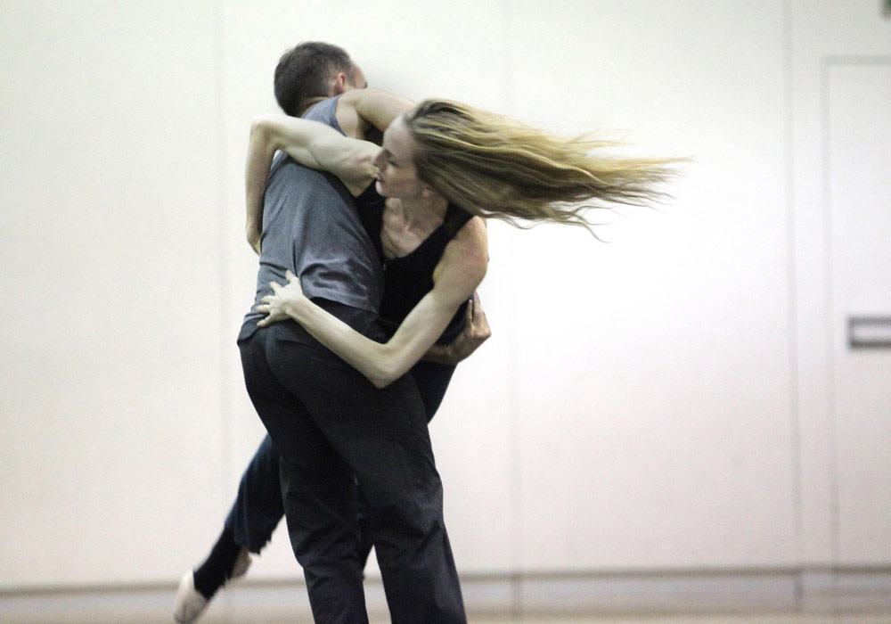 Wendy Whelan and Brian Brooks in the studio.<br />© Erin Baiano. (Click image for larger version)