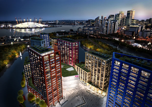 CGI of English National Ballet's planned building at London City Island.© ENB. (Click image for larger version)