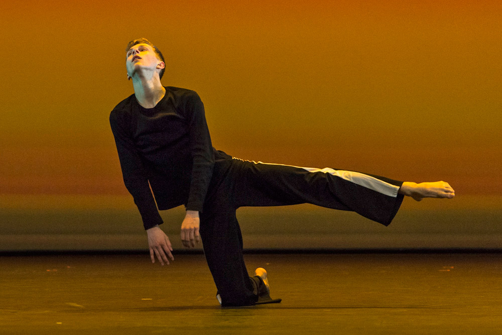 Connor Scott in his self choreographed first solo - Get Up.© Foteini Christofilopoulou. (Click image for larger version)
