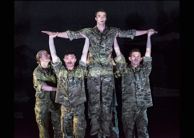 Rosie Kay Dance Company in <I>5 Soldiers</I>.<br />© Foteini Christofilopoulou. (Click image for larger version)