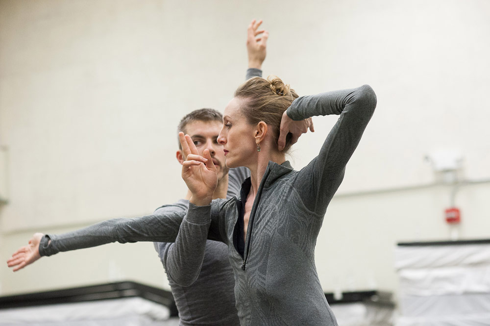 Wendy Whelan and Joshua Beamish in the studio.<br />© Christopher Duggan. (Click image for larger version)