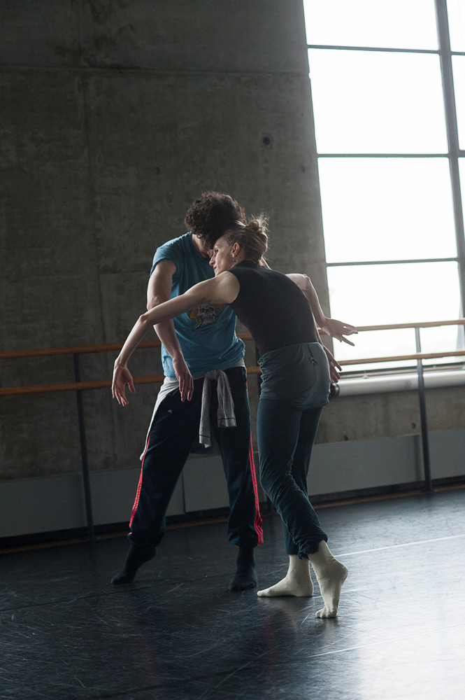 Wendy Whelan and Alejandro Cerrudo in the studio.<br />© Christopher Duggan. (Click image for larger version)