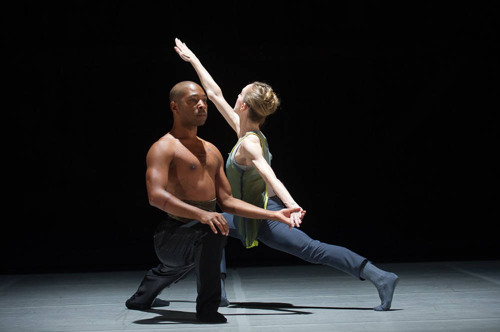 Wendy Whelan and Kyle Abraham in the studio.<br />© Christopher Duggan. (Click image for larger version)
