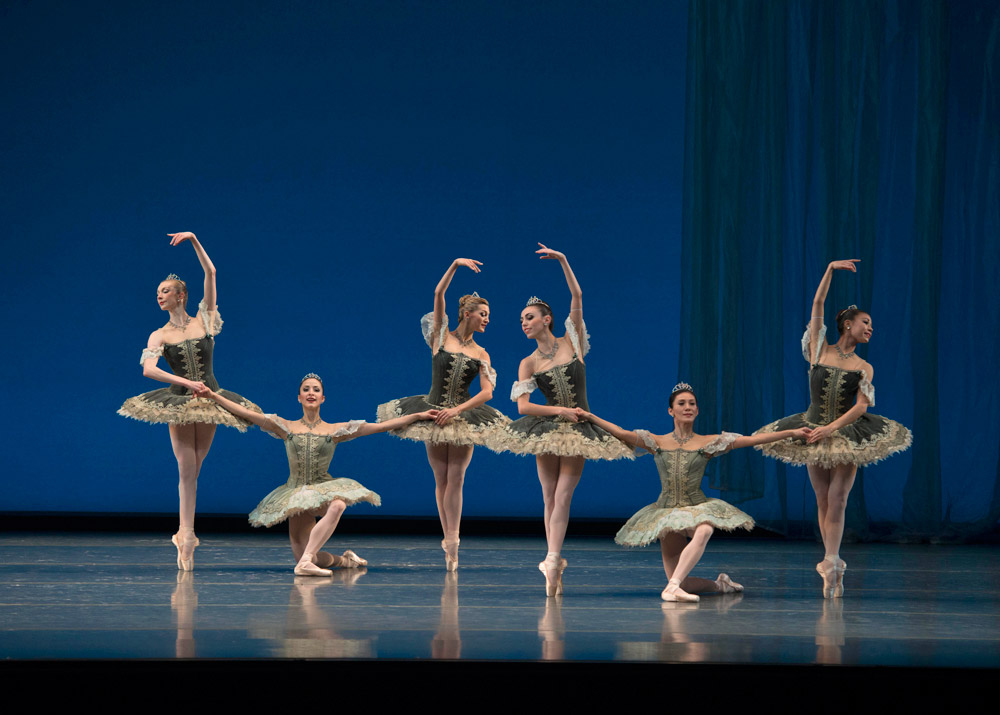 Boston Ballet in George Balanchine's <I>Theme and Variations</I>.<br />© Gene Schiavone. (Click image for larger version)