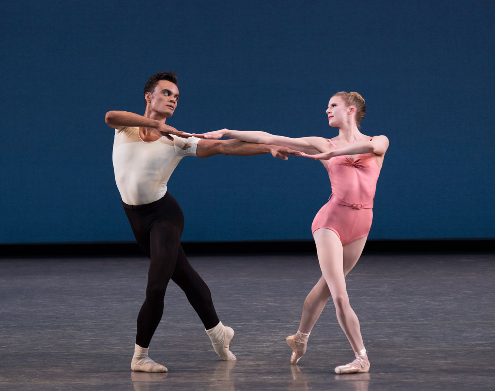 Sterling Hyltin and Taylor Stanley in Symphony in Three Movements.© Paul Kolnik. (Click image for larger version)