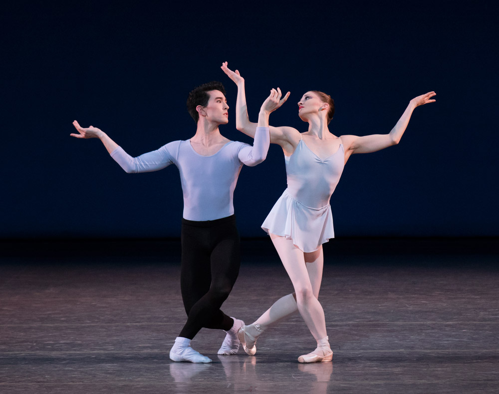 Ashley Bouder and Anthony Huxley in <I>Duo Concertant</I>.<br />© Paul Kolnik. (Click image for larger version)