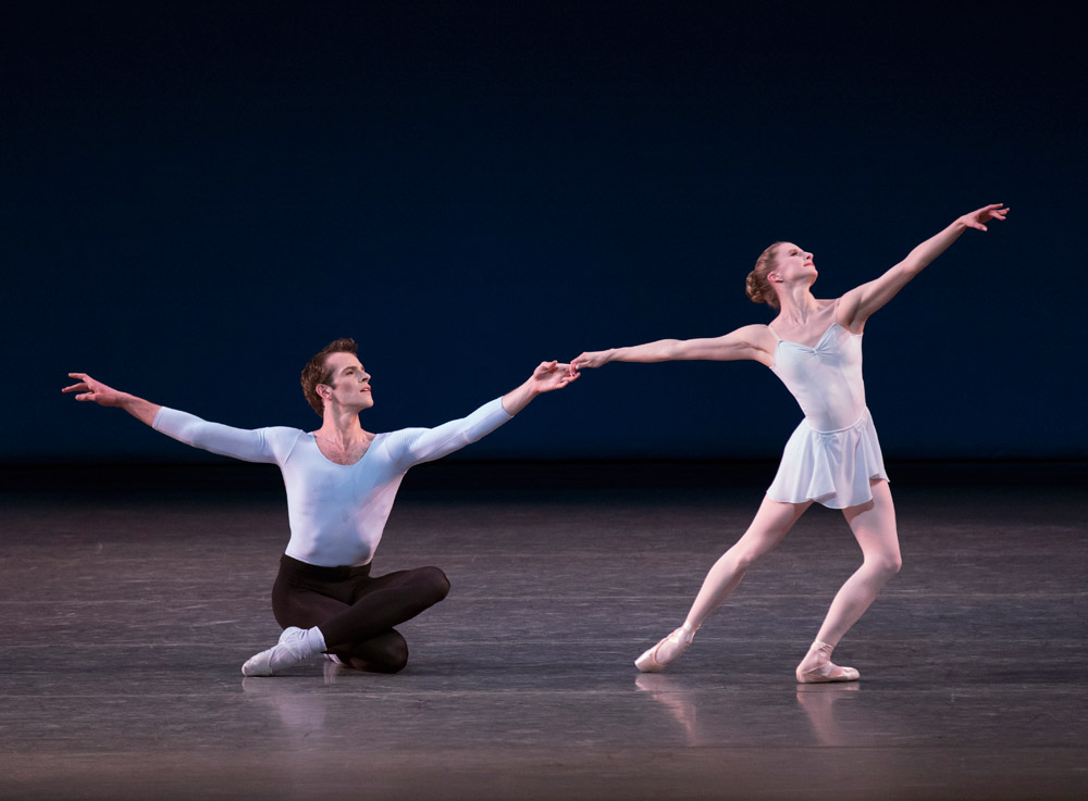 Russell Janzen and Sterling Hyltin in Duo Concertant.© Paul Kolnik. (Click image for larger version)