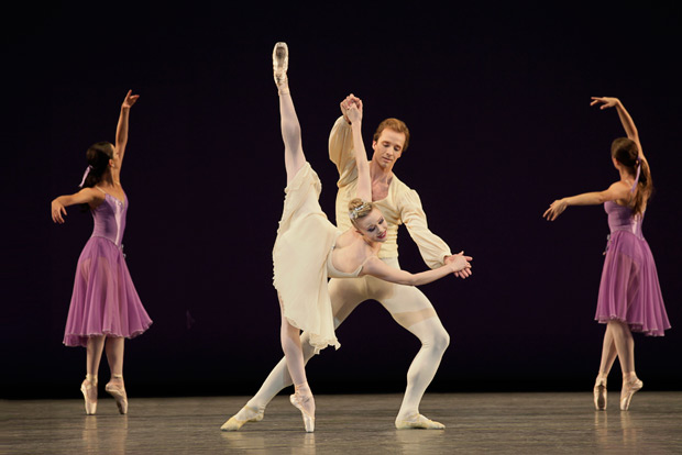 Sara Mearns and Ask La Cour in Balanchine's <I>Walpurgisnacht</I>.<br />© Paul Kolnik. (Click image for larger version)