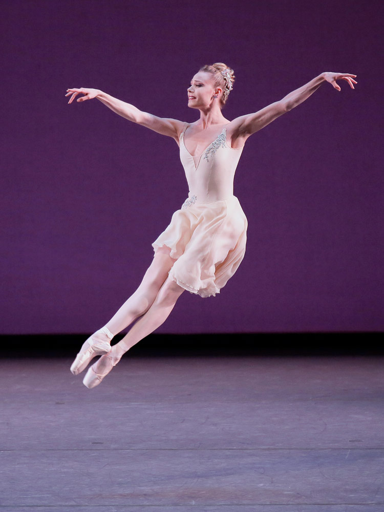 Sara Mearns in Balanchine's <I>Walpurgisnacht</I>.<br />© Paul Kolnik. (Click image for larger version)