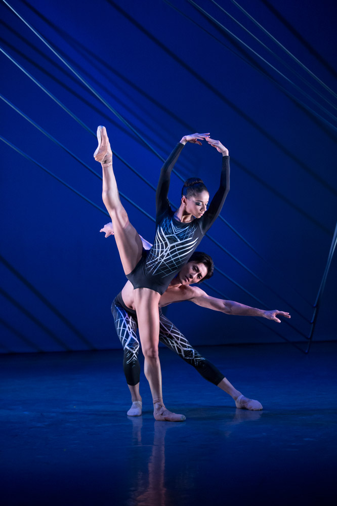 Celine Gittens and Yasuo Atsuji in Kit Holder's <I>Quatrain</I>.<br />© Bill Cooper. (Click image for larger version)