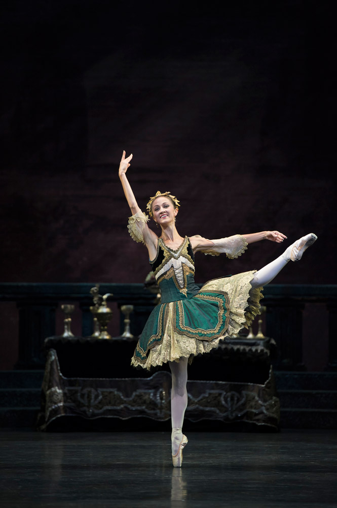 Laura Purkiss as a Courtesan in <I>Swan Lake</I> - in 'my' tutu.<br />© Bill Cooper. (Click image for larger version)