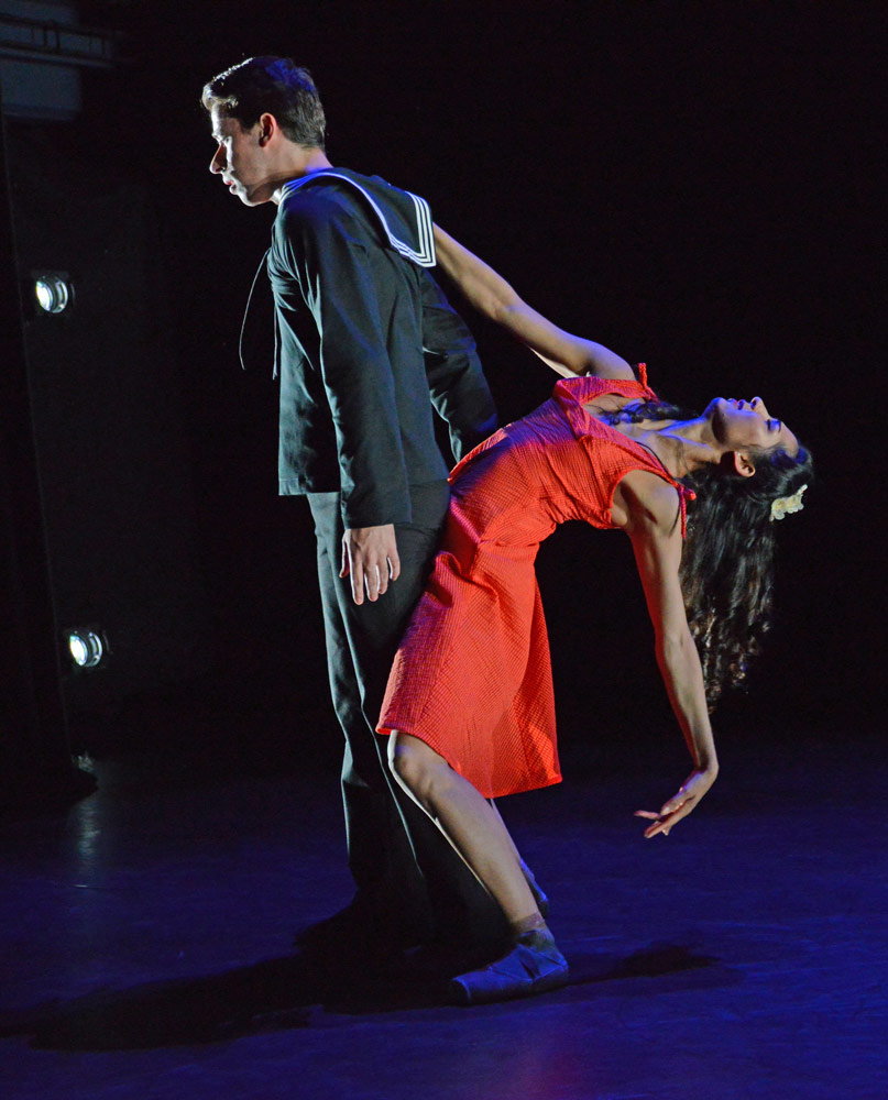 Guilherme Menezes and Sarah Kundi in Renato Paroni de Castro's Memory of What Could Have Been.© Dave Morgan. (Click image for larger version)